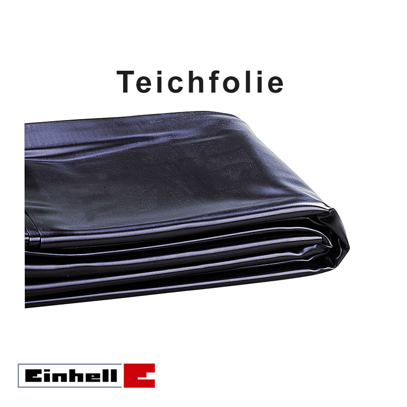 einhell teichfolie schwarz 4x4m folienst rke 0 5mm grundpreis 1 97 m ebay. Black Bedroom Furniture Sets. Home Design Ideas
