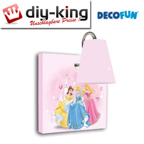 disney princess wandlampe wandleuchte kinderzimmer lampe decofun 84111 neu ovp ebay. Black Bedroom Furniture Sets. Home Design Ideas