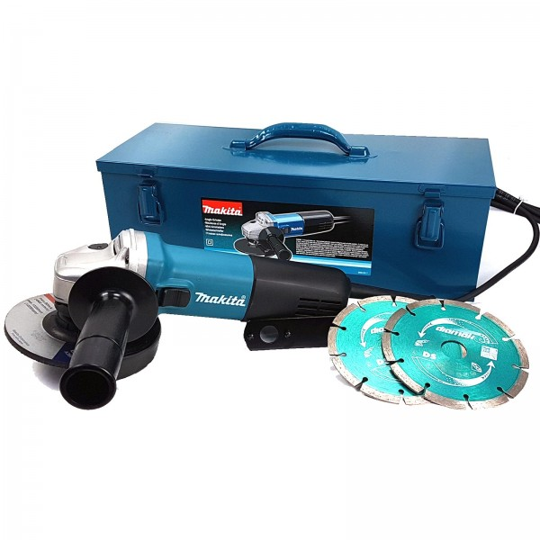 Makita Winkelschleifer Set - 840W - 125mm - 9558HNGKD2 in Metallbox