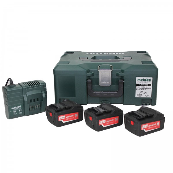 Metabo 18V 5,2Ah Basic-Set (3 x 5,2Ah, ASC 30-36, MetaLoc II)-68506200